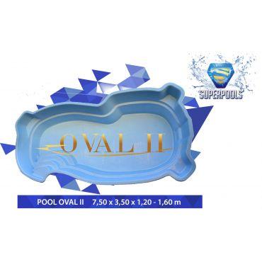 OVAL II 7,50 x 3,50 x 1,20-1,60 m